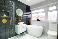 So here it is!  I designed the bathroom and it's finally a reality.  >> Swipe to Se ...