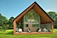 You can purchase a complete set of Modern Tiny House, Cabin, Cottage Plans: 2 Floors, 1...